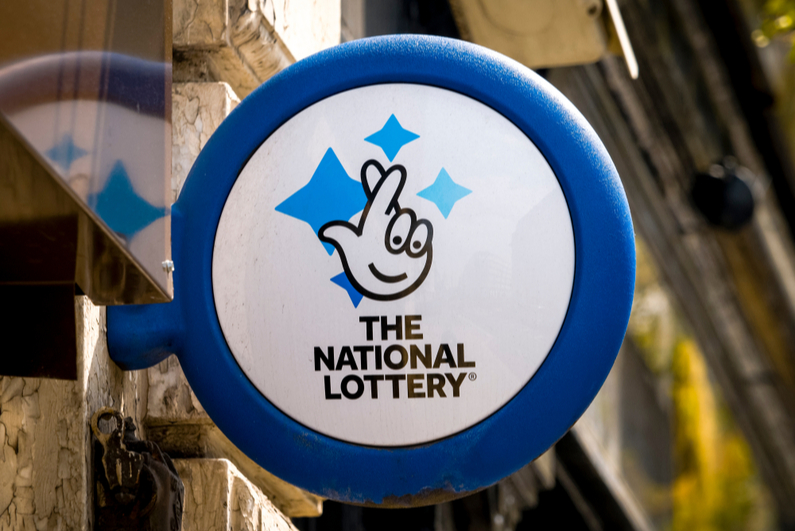 UK National Lottery sign