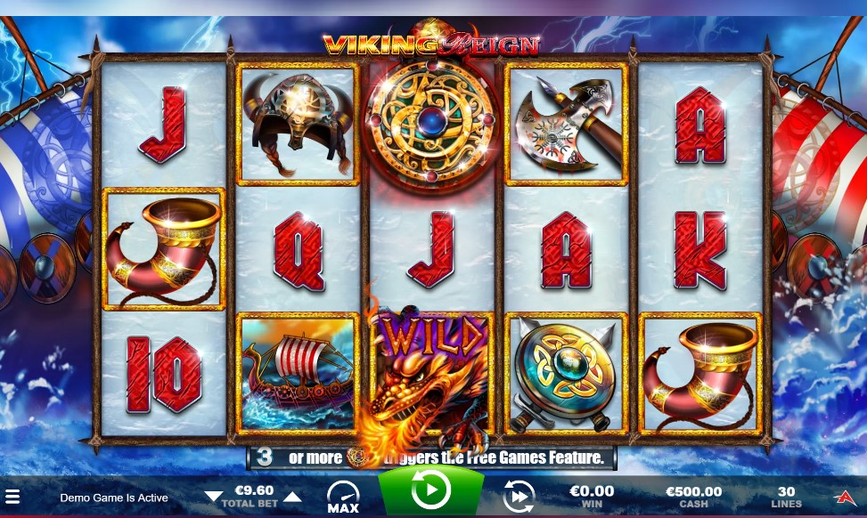 Viking Reign slot reels by Ainsworth