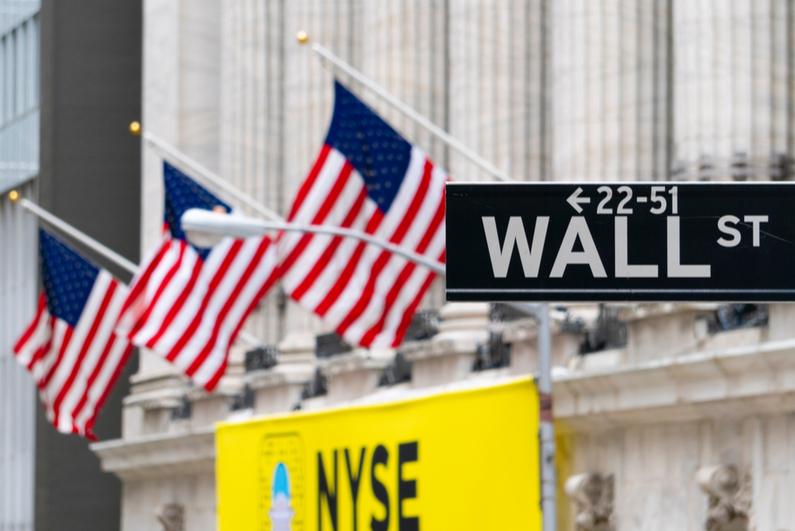 Wall Street sign near NYSE