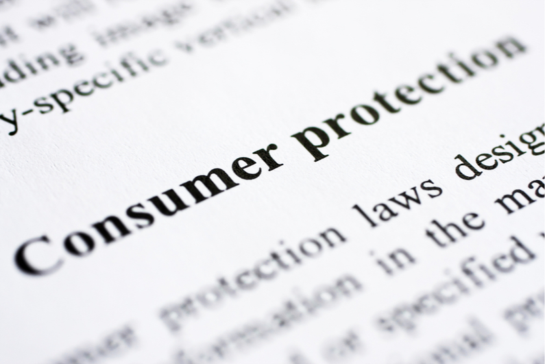 """Zoomed-in text reading """"consumer protection"""""""
