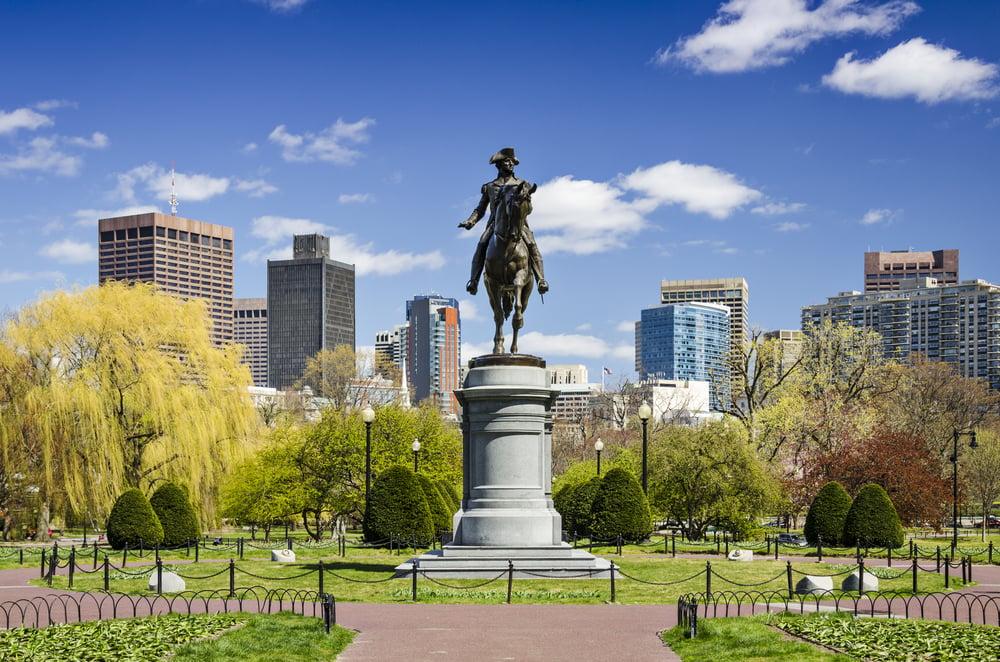 George Washington statue in Boston, Massachusetts
