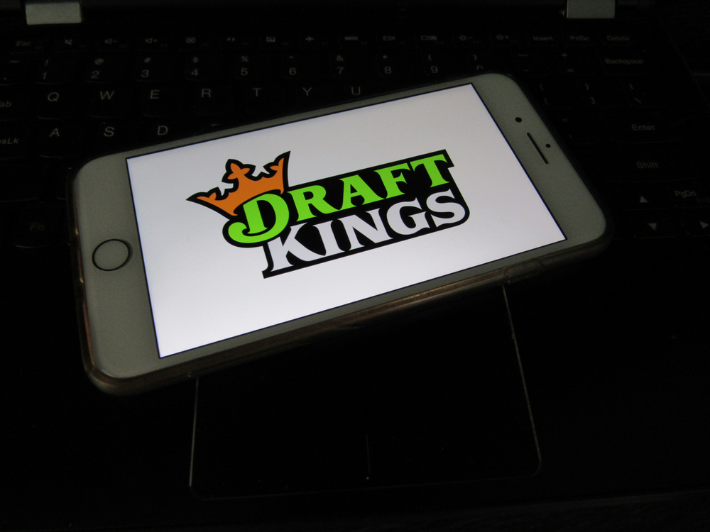 DraftKings logo on smartphone screen