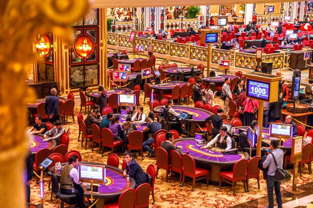 casino patrons at the Venetian in Macau