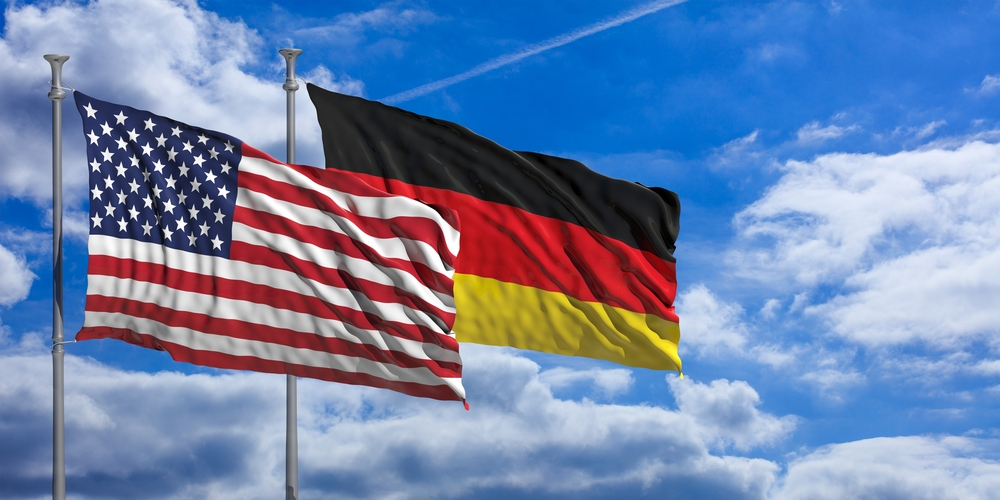 Germany and United States flags