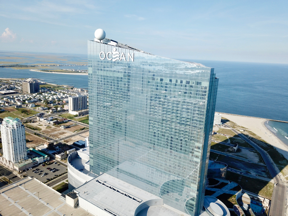 aerial view of the Ocean Casino Resort in Atlantic City, New Jersey