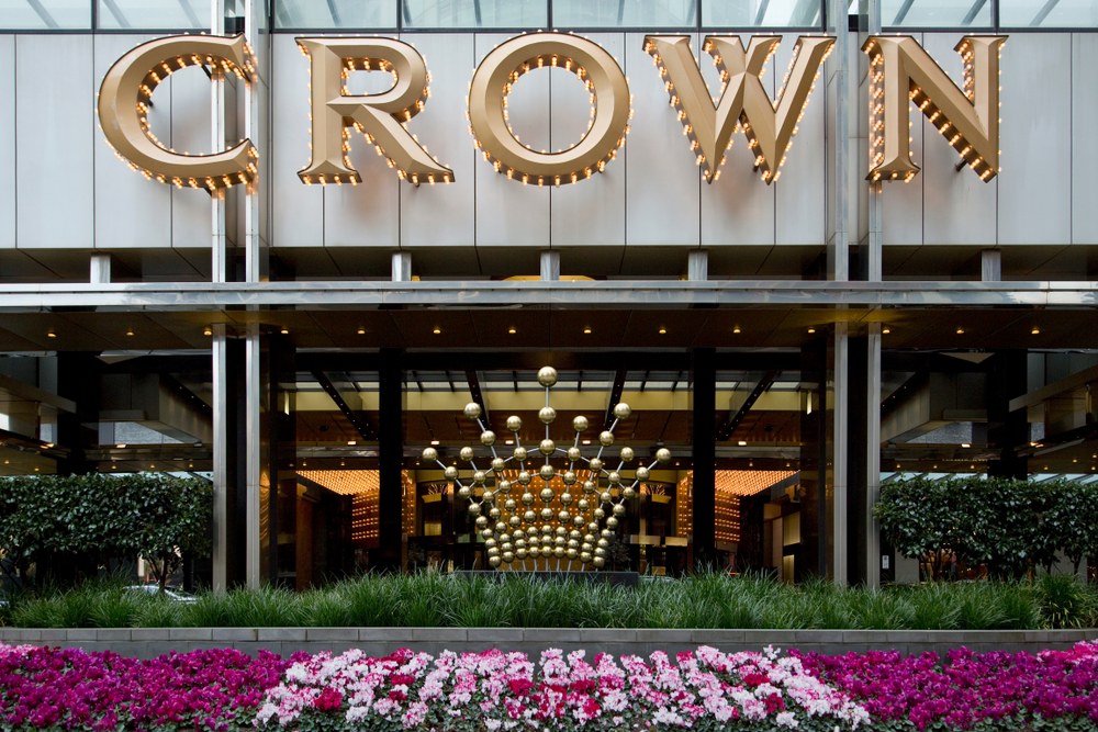 entrance to Crown Casino Melbourne