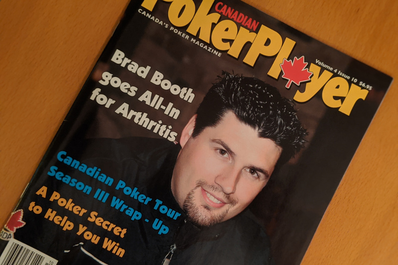 Brad Booth on the cover of Canadian Poker Player magazine