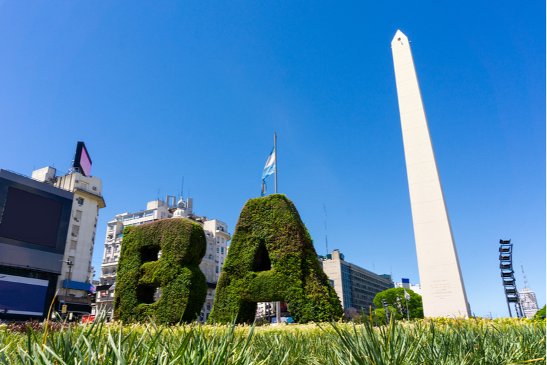 The Obelisk in Buenos Aires