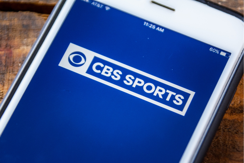 CBS Sports app on a smartphone