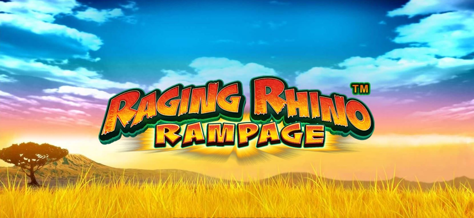 Raging Rhino Rampage slot loading screen by WMS
