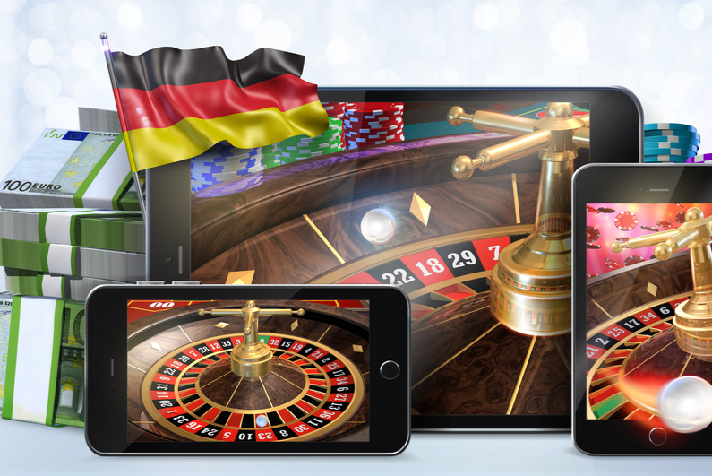 Online gambling images with German flag