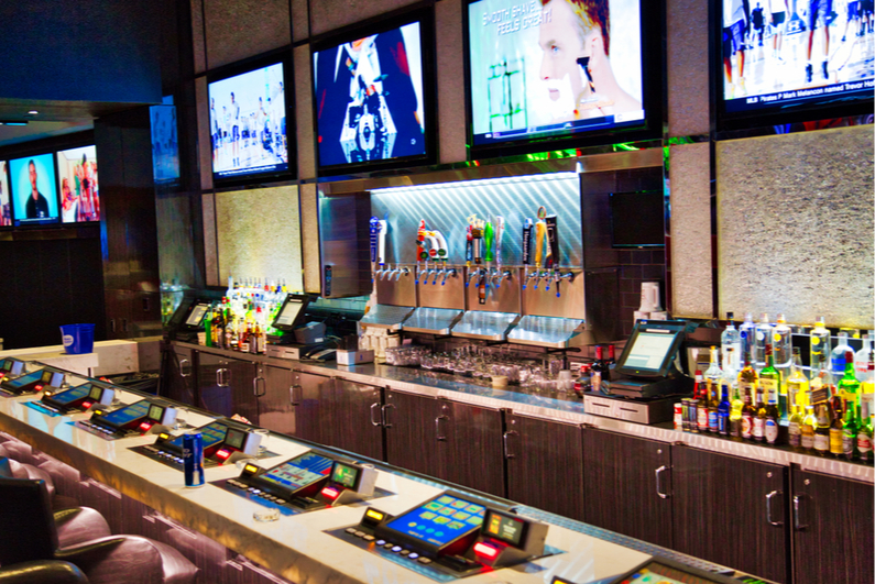 Las Vegas bar with video gambling machines
