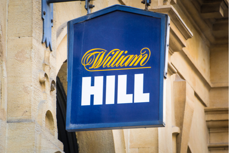 William Hill sign outside betting shop