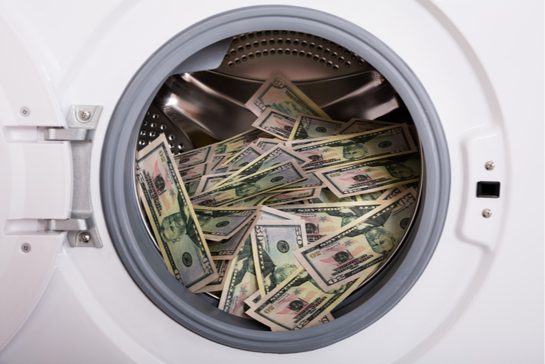 cash in a dryer
