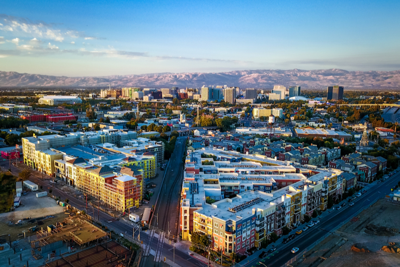 aerial view of downtown San Jose, California