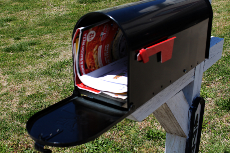 Open mailbox with mail inside