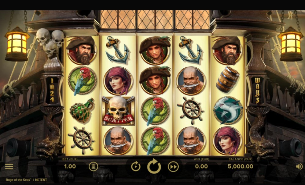 Rage of the Seas slot reels by NetEnt