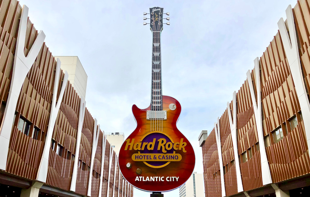 Hard Rock Hotel & Casino Altantic City signage