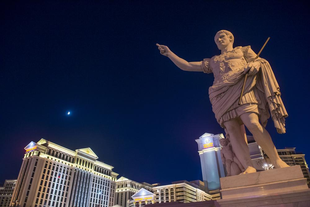 statue of Julius Caesar outside Caesars Palace in Las Vegas