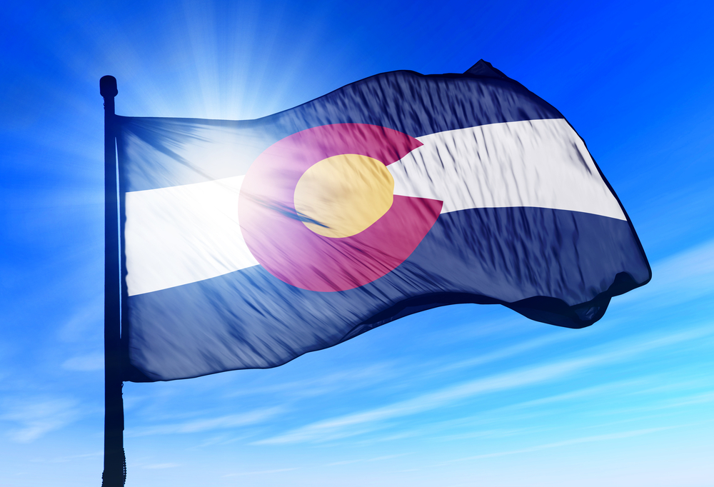 flag of the American state of Colorado