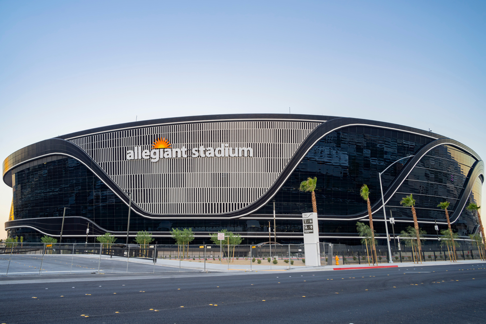 facade of the Allegiant Stadium in Las Vegas