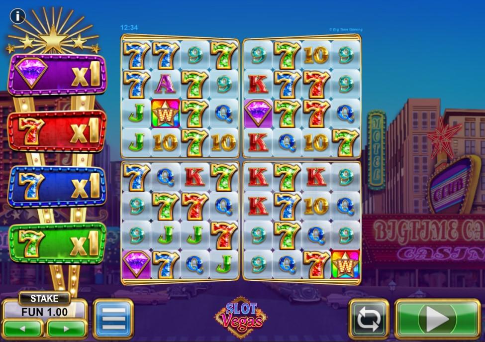 Slot Vegas Megaquads reels by BTG