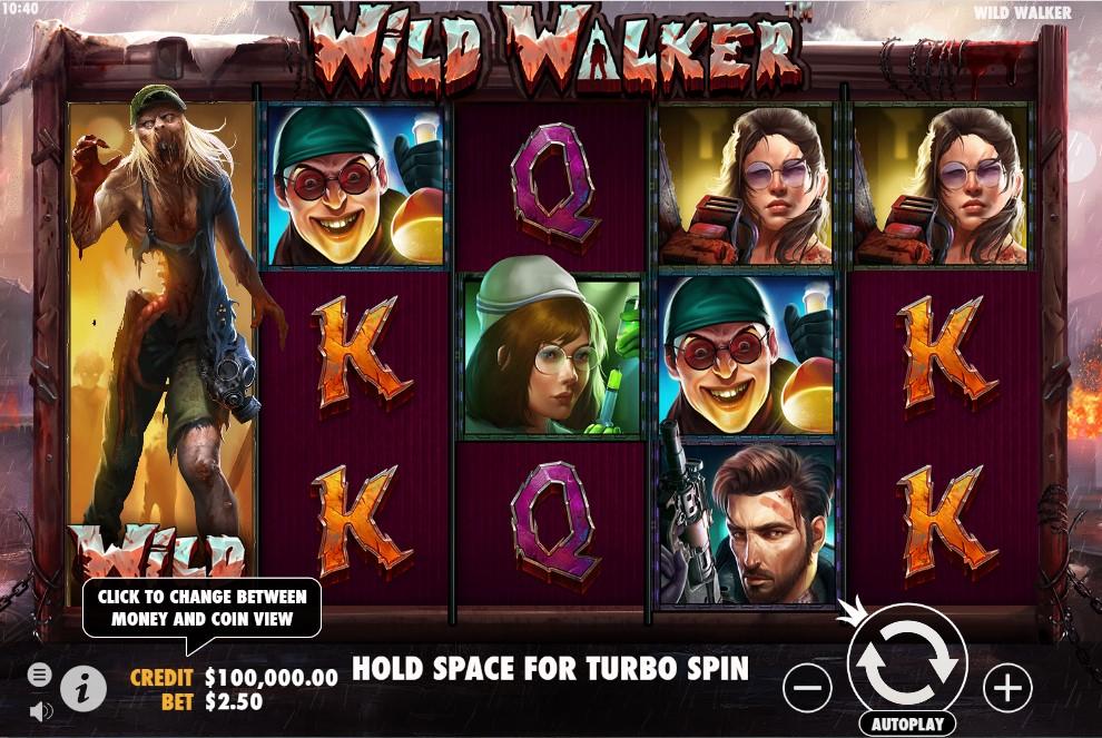 Wild Walker slot reels by Pragmatic Play