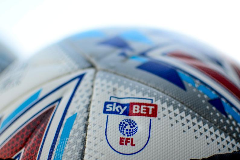 EFL soccer ball with Sky Bet logo