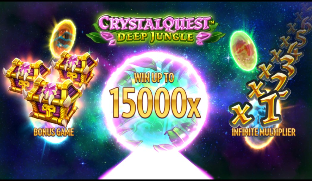 Crystal Quest: Deep Jungle slot loading screen by Thunderkick