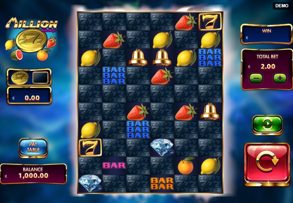 Million 777 slot reels by Red Rake Gaming