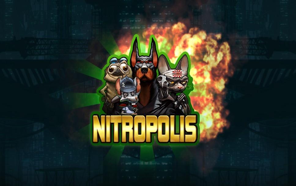 Nitropolis slot loading screen by ELK Studios