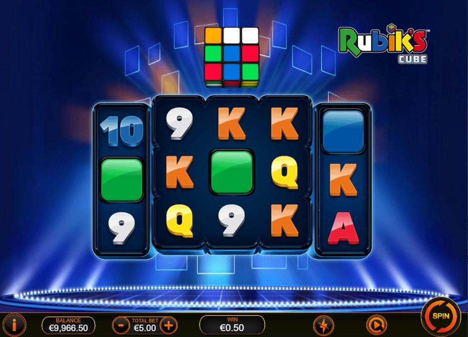 Rubik's Cube slot reels by Ash Gaming