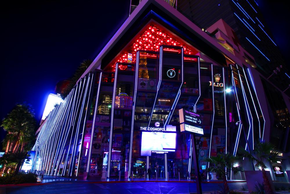 Facade of the Cosmopolitan casino-resort in Las Vegas