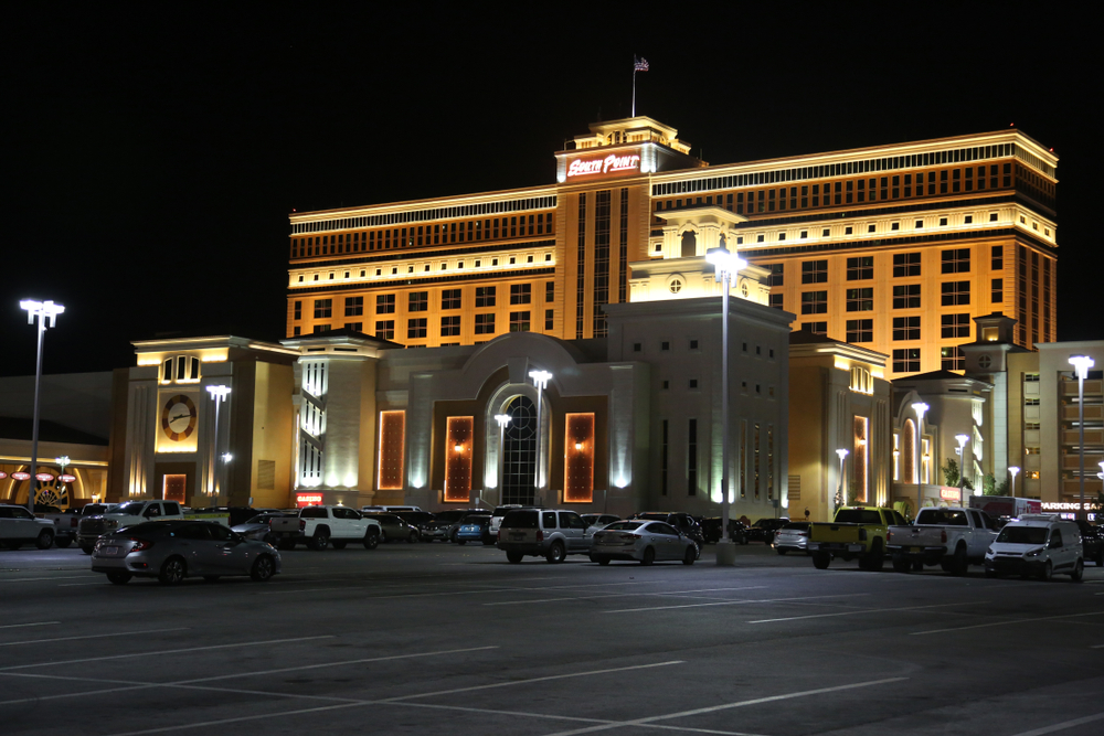 facade of South Point Hotel and Casino in Las Vegas