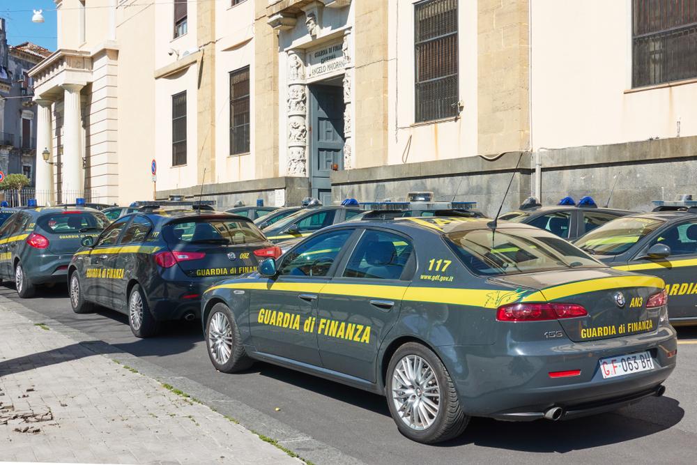 Italian Guardia di Finanza police cars
