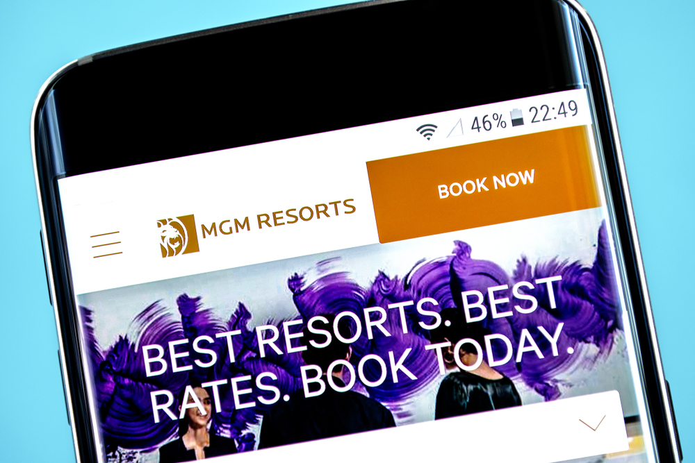 MGM Resorts website viewed on smartphone