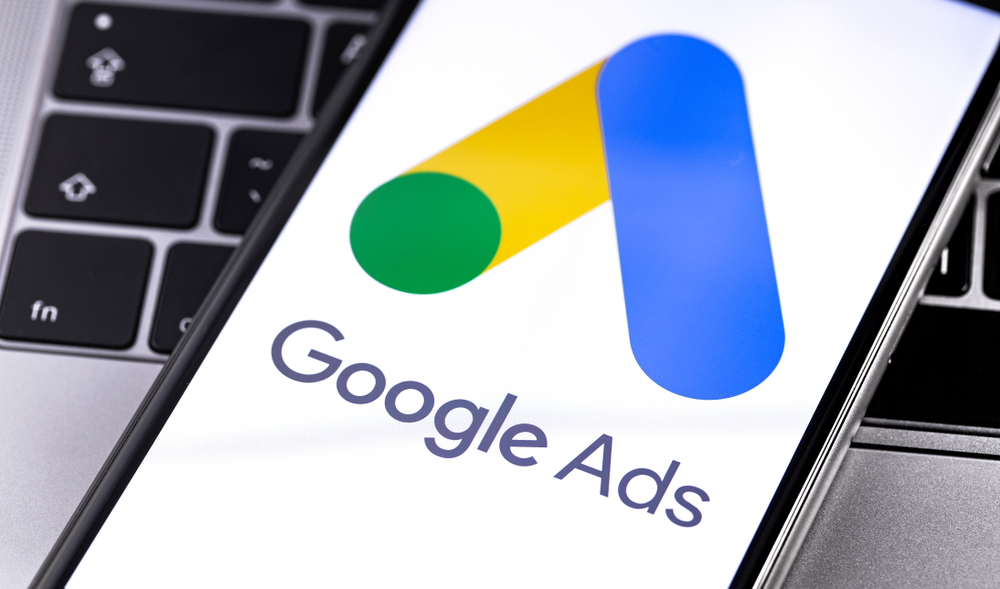Google Ads logo appears on smartphone