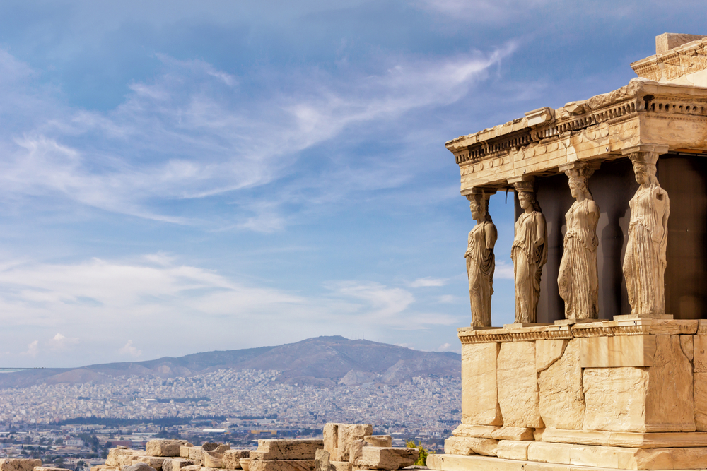 detail of the Acropolis in Athens, Greece