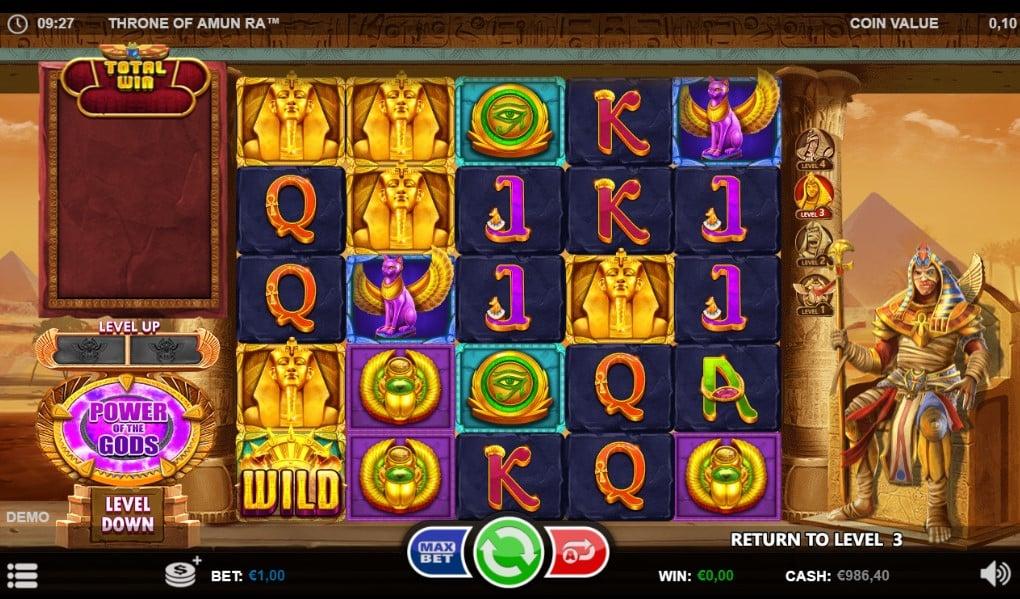 Throne of Amun-Ra slot reels by Games Inc.