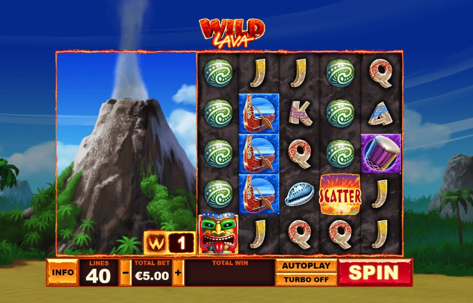 Wild Lava slot reels by Playtech