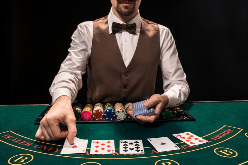 Male blackjack dealer