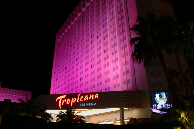 Tropciana Las Vegas at night