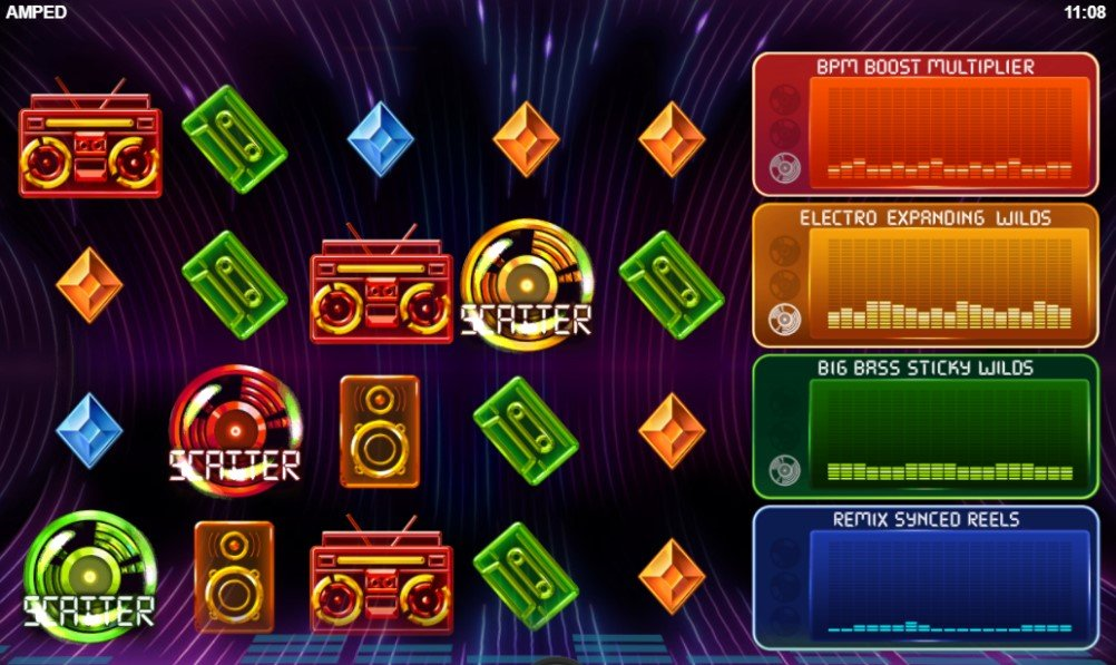 Amped slot reels by Relax Gaming