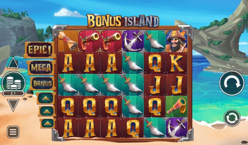 Bonus Island slot reels by Inspired Gaming
