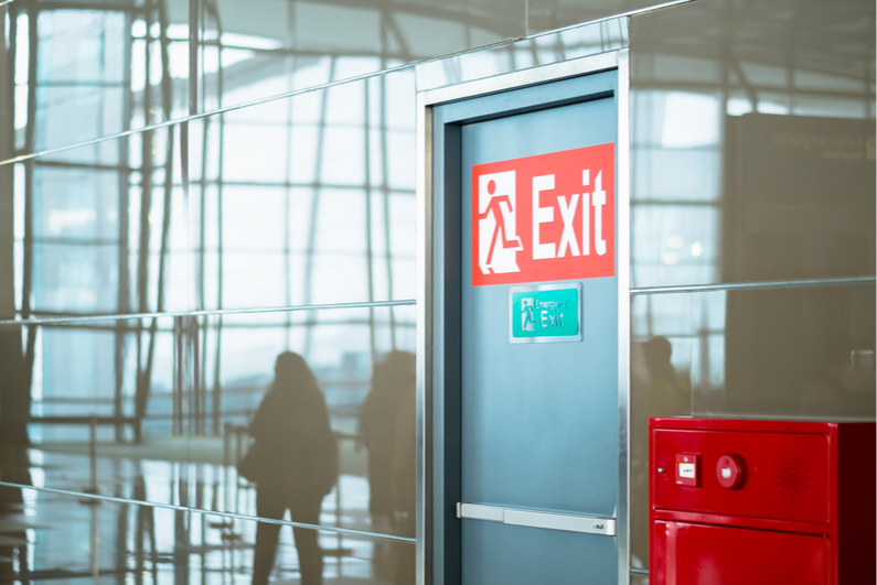 exit door at airport