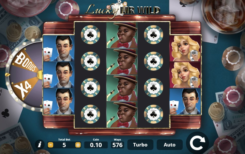 Lucky Mr Wild slot reels by Lady Luck Games