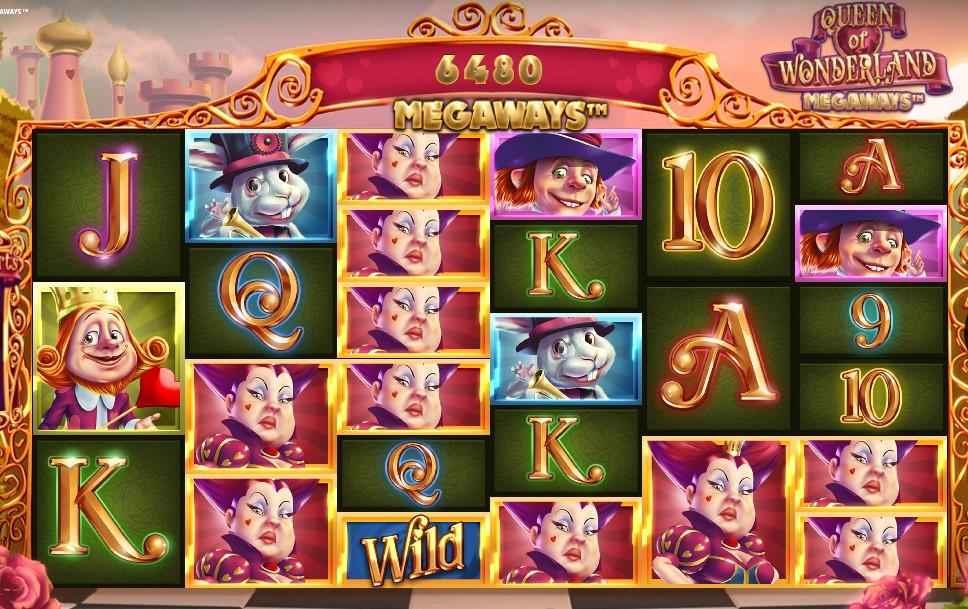 Queen of Wonderland Megaways slot reels by iSoftBet