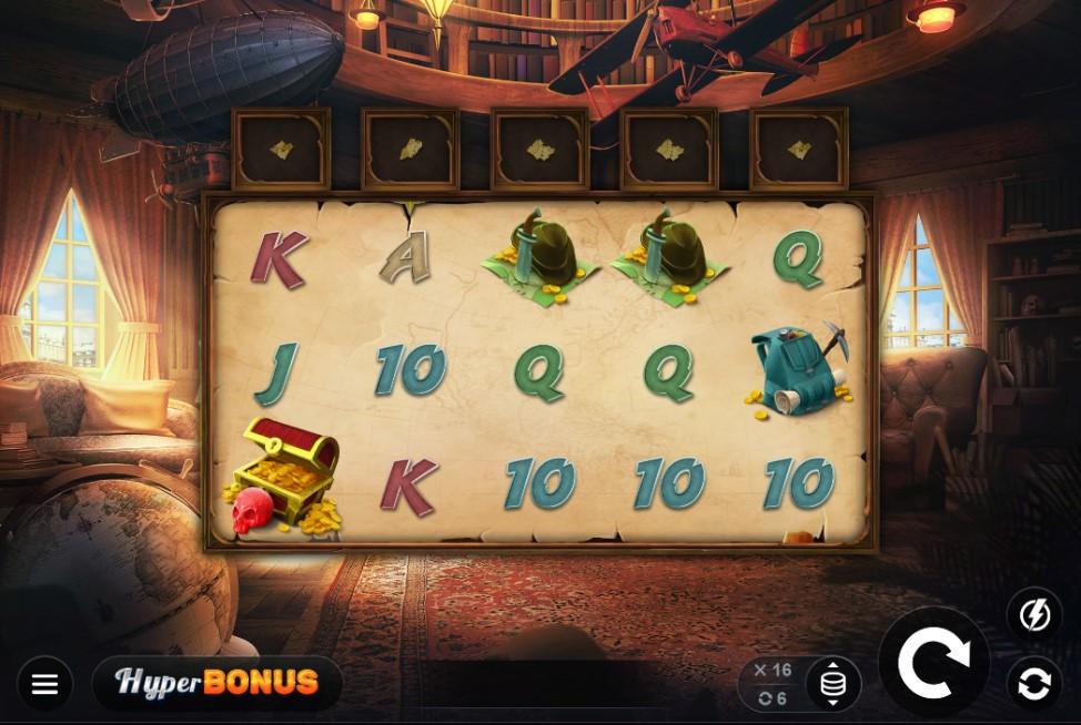 Sadie Swift Guns N Glyphs slot reels by Kalamba Games