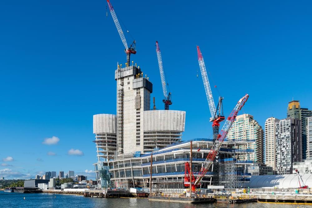 Crown Casino complex in Barangaroo, Sydney under construction