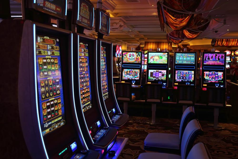 gambling machines inside a Las Vegas casino